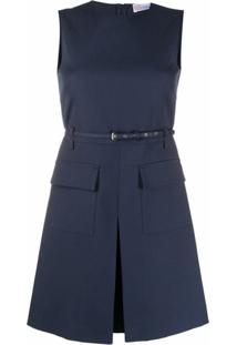 Redvalentino Vestido Reto - Azul