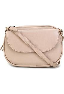 Bolsa Anacapri Mini Bag Pqn Eco Vene Feminina - Feminino-Marrom Escuro