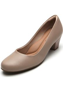 Scarpin Couro Piccadilly Liso Nude