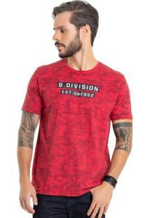 Camiseta Estampada Vermelho Bgo
