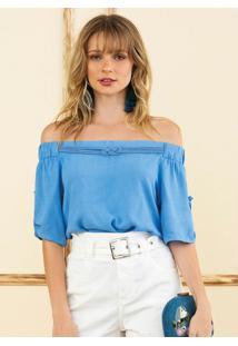 Blusa Azul Topázio
