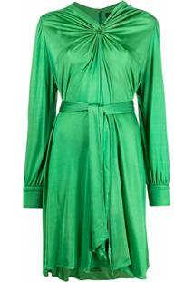 Isabel Marant Vestido Cleone Com Amarração Na Cintura - Verde