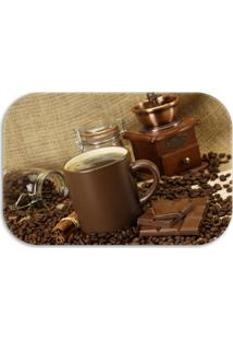 Tapete Decorativo Lar Doce Lar Decor Coffee 40Cm X 60Cm Marrom - Marrom - Dafiti