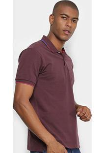 Camisa Polo Forum Básica Masculina - Masculino-Vinho
