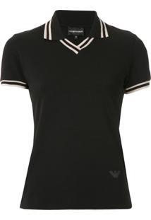 Emporio Armani Camisa Polo Com Logo - Preto