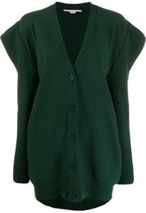 Stella Mccartney Cardigan Com Ombros Estruturados - Verde