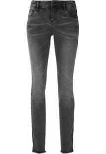 Armani Exchange Calça Jeans Super Skinny - Cinza