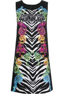 Versace Jeans Couture Vestido Com Estampa - Preto