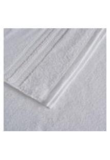 Toalha Color Clip Artex Rosto Branco