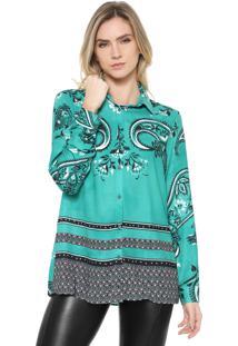 Camisa Dimy Estampada Verde
