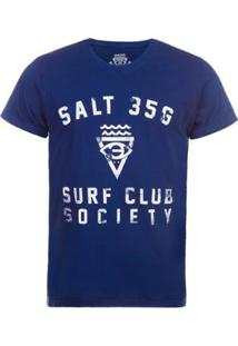 Camiseta Salt 35G Surf Society Masculina - Masculino-Azul