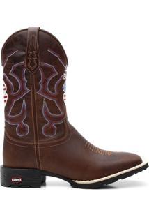 Bota Texana Craz Horse Live Boot Bico Quadrado - Masculino-Marrom