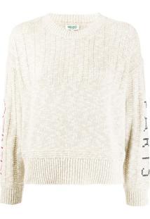 Kenzo Cross-Stitch Logo Sweater - Neutro