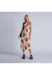 Vestido Mídi Amarração Estampa Venice - Lez A Lez
