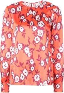 Carolina Herrera Floral Print Blouse - Laranja