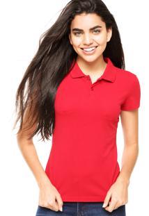 ... Camisa Polo Manga Curta Malwee Slim Vermelha bf1a5d74af09c