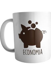 Caneca Live Chinelos Economia Branca