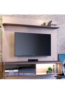 Painel Para Tv Até 60 Polegadas Guaruja 1 Porta Off White/Nogueira Real - Colibri Móveis