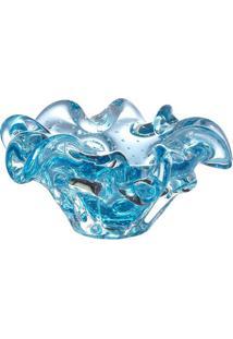 Cinzeiro Assimétrico- Azul Claro- 5Xø13Cmcristais São Marcos