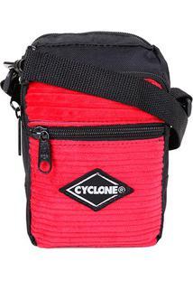 Bolsa Cyclone Shoulder Veludo Masculina - Masculino-Vermelho