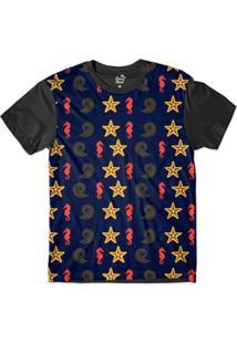 Camiseta Long Beach Náutica Estrela Marinha Sublimada Masculina - Masculino