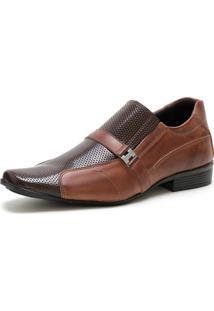 Sapato Social Ded Calçados Elástico Sem Cardaço Café