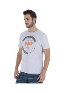 Camiseta Hd Estampada New Basic - Masculina - Cinza Claro
