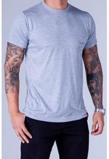 Camiseta Equivoco Reta Mario Masculina - Masculino-Cinza Claro