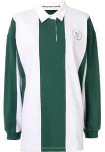 Alexander Wang Camisa Polo Oversized Com Aplicação De Tachas - Verde