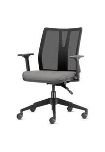 Cadeira Addit Assento Crepe Cinza Claro Com Base Piramidal Em Nylon - 54106 Cinza