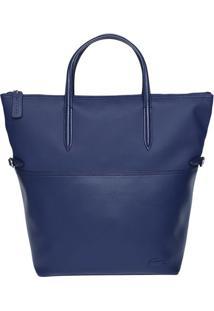 Bolsa Com Recortes- Azul Marinho- 45X36X13Cm- Lalacoste