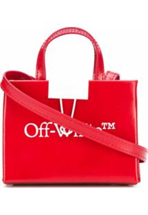 Off-White Bolsa Transversal Baby Box Com Estampa De Logo - Vermelho