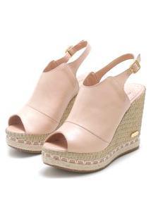 Sandália Sb Shoes Ancoboot Anabela Ref.3400 Nude
