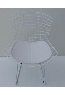 Cadeira Bertoia Pintada Branco Assento Branco - 20028 - Sun House