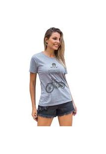 Camiseta Feminina Mirat Motorcycle Vintage Mescla