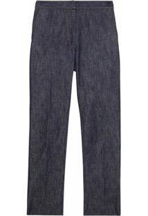 Burberry Straight Fit Monogram Motif Japanese Denim Jeans - Azul
