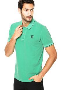 Camisa Polo Coca-Cola Jeans Tinturada Verde
