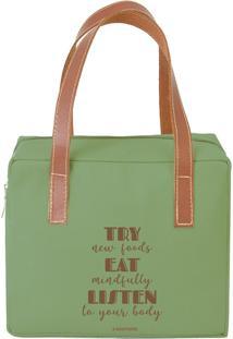 Bolsa Térmica Quadrada New Food Verde - Boxmania