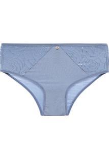Calcinha Cintura Alta Microfibra Minimal Azul - P