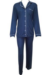 Pijama Vincullus Aberto Azul