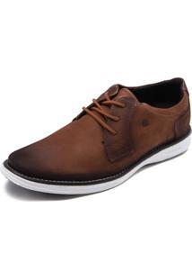 Sapato Social Couro Pegada Envelhecido Marrom