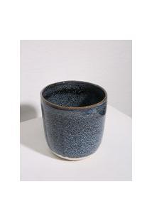 Amaro Feminino Casa Libre Cachepot Cerâmica Mellita Pequeno, Azul Escuro
