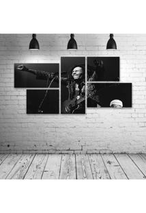 Quadro Decorativo - Bob-Marley-Show - Composto De 5 Quadros