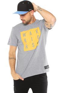 Camiseta New Era Golden State Warriors Cinza