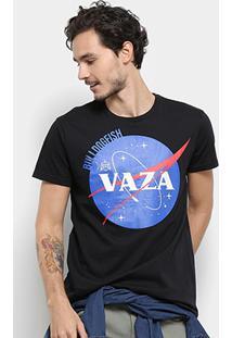 Camiseta Bulldog Fish Vaza Masculina - Masculino-Preto