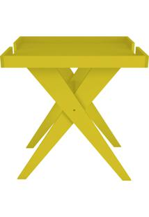 Mesa Lateral Sweet Amarelo D'Rossi Amarelo