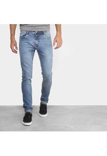 Calça Jeans Slim Dimy Johnny Masculina - Masculino-Azul