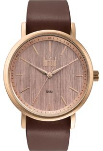 Relógio Analógico Dumont Feminino - Du2035Moc/4M Marrom Claro