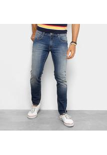 Calça Redley Jeans Oceano Used Suave 118772 - Masculino-Jeans