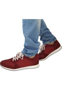 Sapatênis Proence Em Couro Skate High Vinho